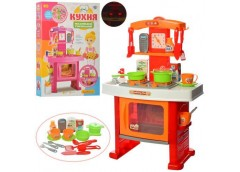 Кухня в кор. плита, духовка, посуд, звук, світ. часи,на бат прод.. 45*63*8см. 66...