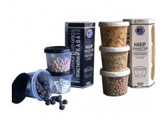 Набір ємностей для сипких і рідких продуктів 3 шт. 0,2 л Народний продукт 88 (15...