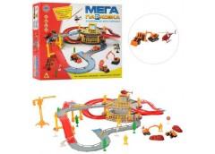 Гараж в кор 2 етаж. будівельна техніка(мет.), гелікоптер, аксесуари, 41-36-7см. ...